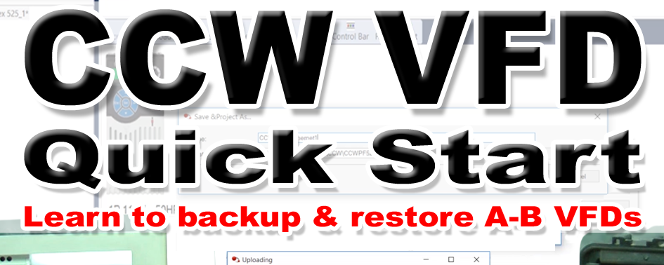 Using CCW with VFDs